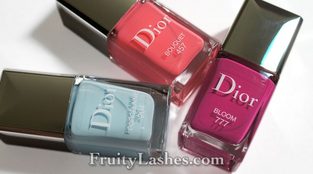Dior Vernis Spring 2014 Porcelaine Bouquet Bloom Swatches Review