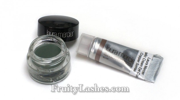 Laura Mercier Metallic Cream Eye Color Copper Sunrise Cream Eye Liner Graphite Swatches Review