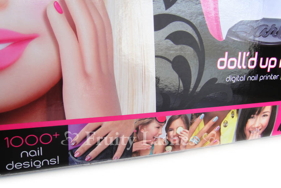 Barbie Doll'd up Nails Digital Nail Printer - Fruity Lashes