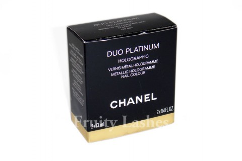 Color Of The Week Chanel Duo Platinum Holographic Metallic Hologramme Nail Colour Fruity Lashes