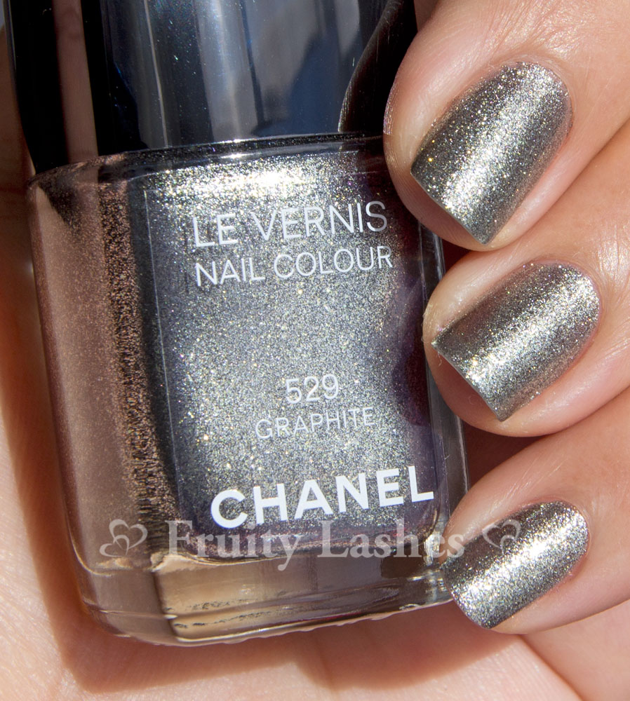 Chanel Fall 2011 Nail Polish 529 Graphite Swatch and ...