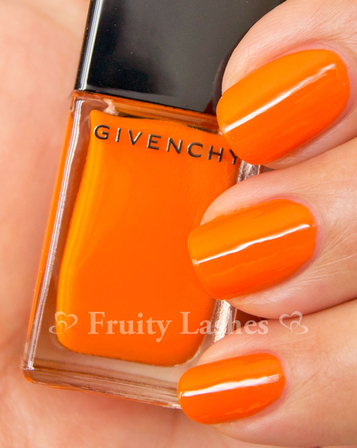 Vernis Please! Givenchy Nail Lacquer 175 Acid Orange Swatch and ...