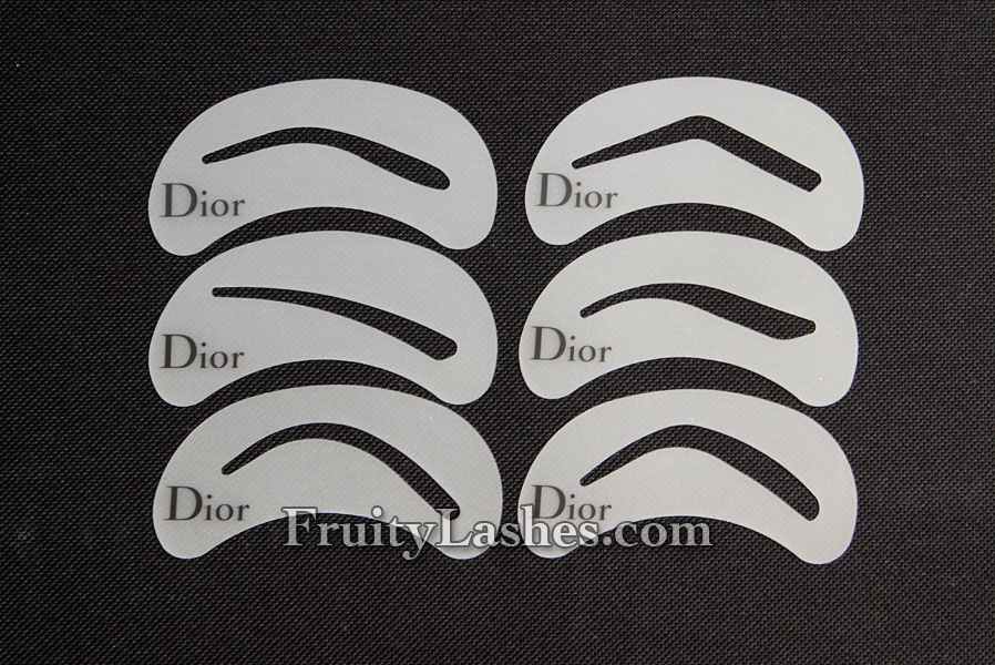 Dior Backstage Brow Design Brow Shaping Stencils Kit Review Fruity
