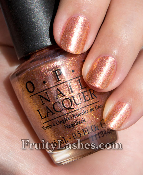 Nail Polish Colors Bronze: OPI Serena Glam Slam! US Nail Swatch And Review