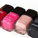 Chanel Nail Colour Pirate Rose Exuberant Rose Cache Mat Top Coat