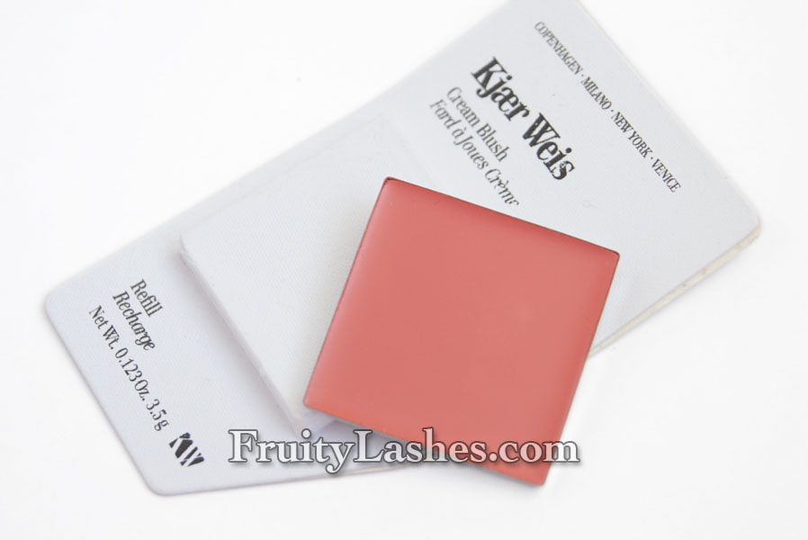 Kjaer Weis Creme Blush Refill Sun Touched Eye Shadow Onyx Lip Tint Passionate Swatch And Review Fruity Lashes