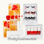 Sephora Pantone Universe Collection Color of the Year Nail Enamel Tangerine Tango Brush Set Faux Lash Set