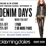 Bloomingdales Denim Days