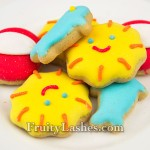 Summer Fun Mini Iced Vanilla Cookies