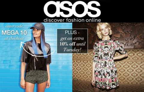 Asos mid-season sale extra 10% off