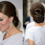 Kate Middleton holiday updo hairstyle