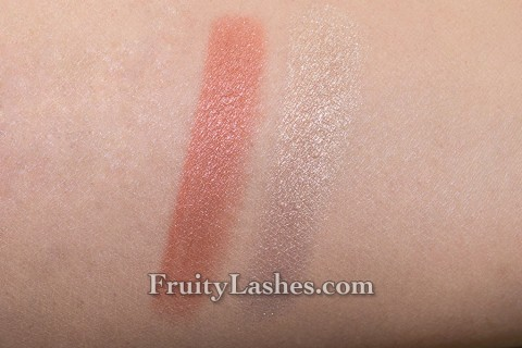 Laura Mercier Art Deco Muse Collection Illuminating Eye Colour Gilded Rosegold Gilded Platinum Swatch
