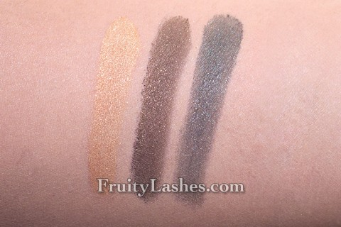 Laura Mercier Holiday 2012 Mini Baked Eye Trio Golden Metallics Swatch