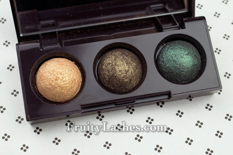 Laura Mercier Mini Baked Eye Trio Golden Metallics Holiday 2012