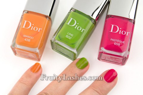 Dior 2013 Cruise Collection Mango Lime Pasteque Swatches