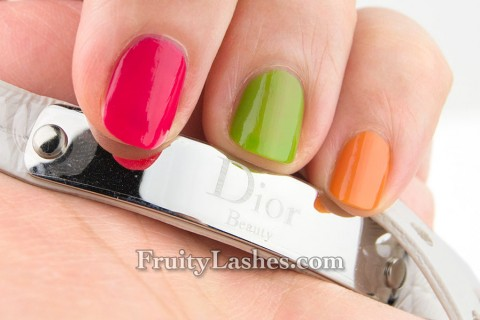 Dior 2013 Vernis Cruise Collection Mango Lime Pasteque Swatches