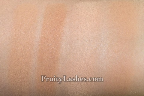 Make Up For Ever Pro Finish Multi-Use Powder Foundation 118 Neutral Beige 120 Neutral Ivory Swatches Comparison