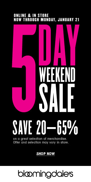 bloomingdales 5 day weekend sale