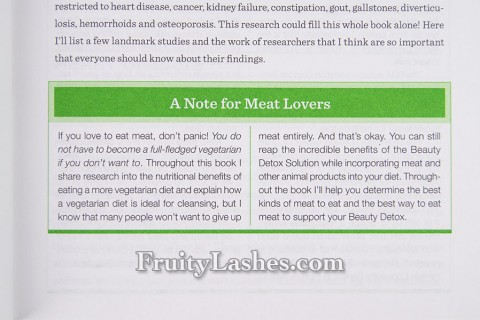 A Note for Meat Lovers Beauty Detox
