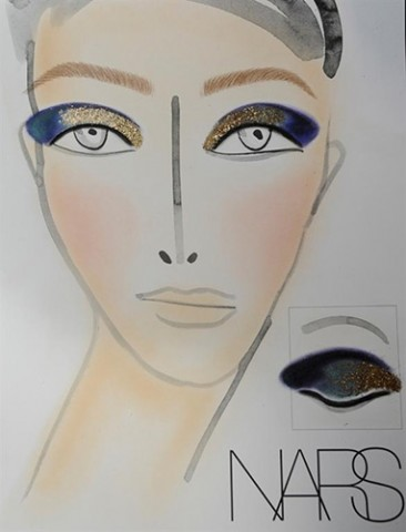 NARS AW13 Thakoon face chart