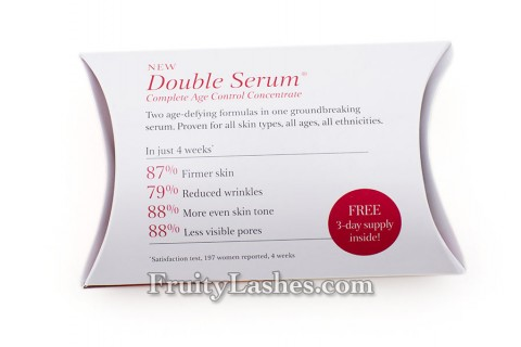 Clarins Double Serum Satisfaction Test Result