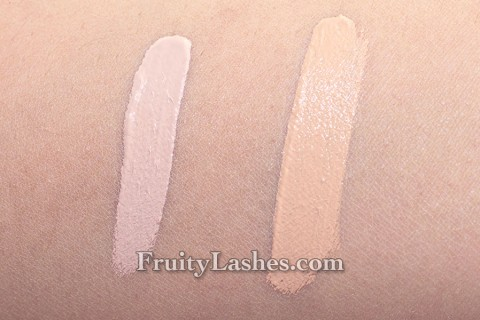 NARS Radiant Creamy Concealer Light 2 Vanilla Medium 1 Custard Swatch