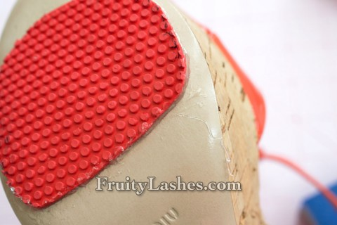 Outsole Glued to the Shoes
