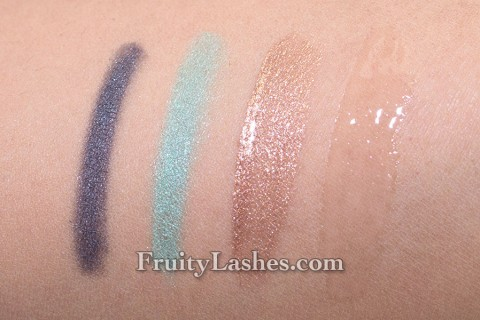 Paul & Joe Beaute Summer 2013 Beach Baby Eye Gloss Lip Gloss Eye Liner Eye Crayon Swatch