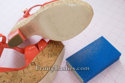 Shoe Sole Filed by Sand Paper