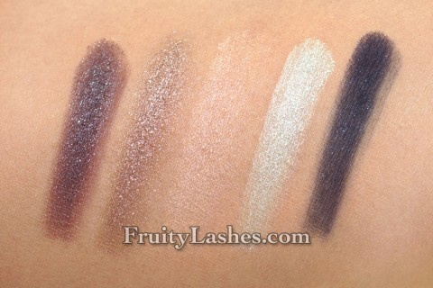 smashbox Spring 2013 Eye Shadow Palette Entice Me Swatch