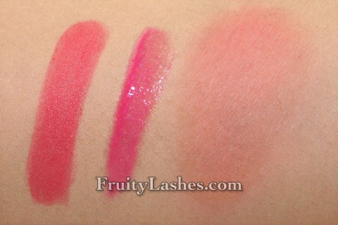 smashbox spring 2013 Megatint Cerise Lip Gloss Adore Me Halo Blush In Bloom Swatch