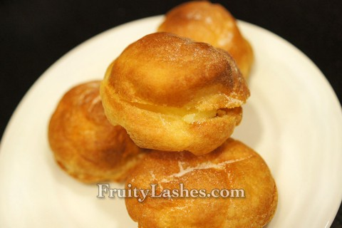 Choux Pastry Puff with Lemon Cream Filling