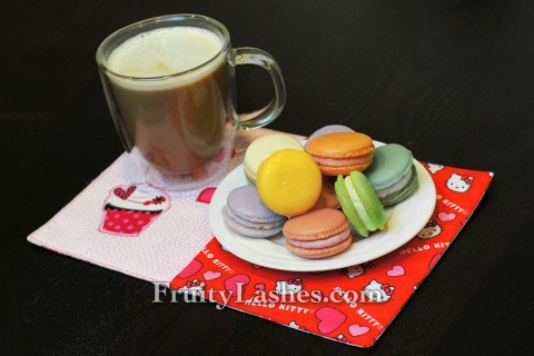French Macarons Hello Kitty Heart Coffee Mug Rug
