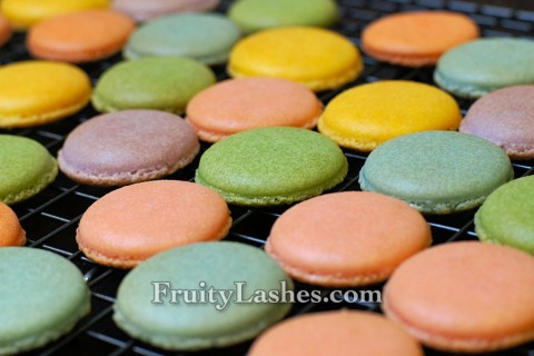 Macaron Shells Being Cooled