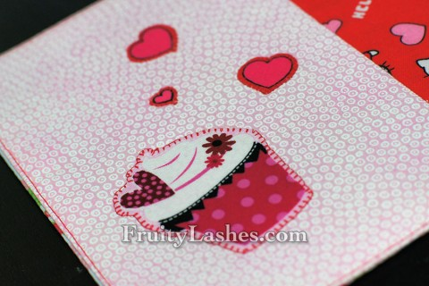 Valentine's Cupcake Heart Applique