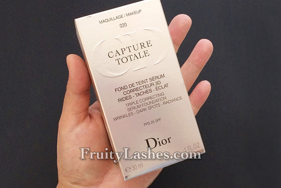 Dior Capture Totale Triple Correcting Serum Foundation 020 Light ...