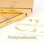 Dior Holiday 2012 Grand Bal False Lashes 24 Karat Gold Temporary Tattoos